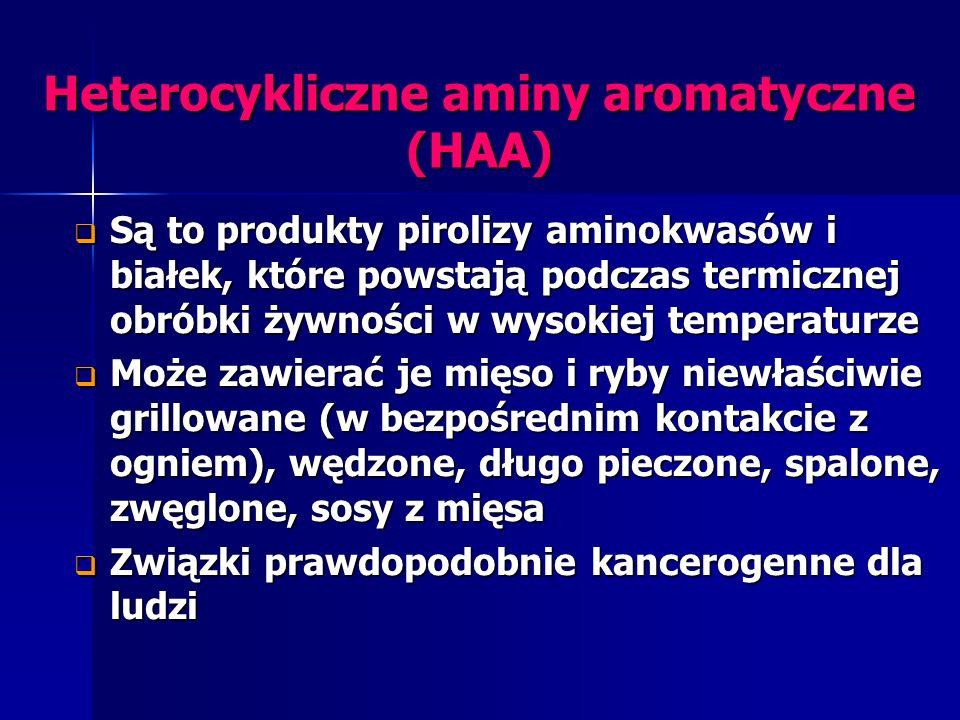 Heterocykliczne aminy aromatyczne (HAA)