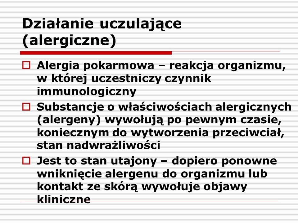 Działanie uczulające (alergiczne)