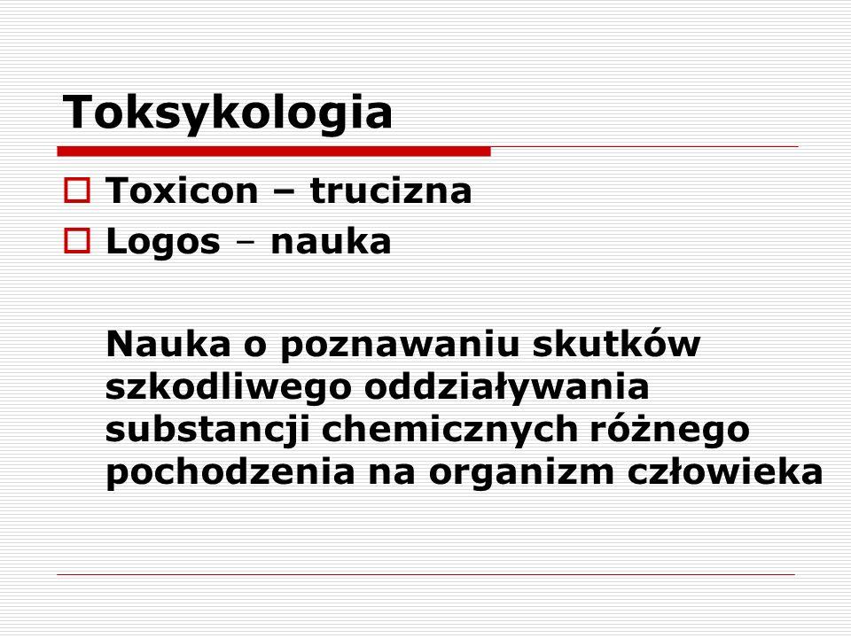 Toksykologia Toxicon – trucizna Logos – nauka