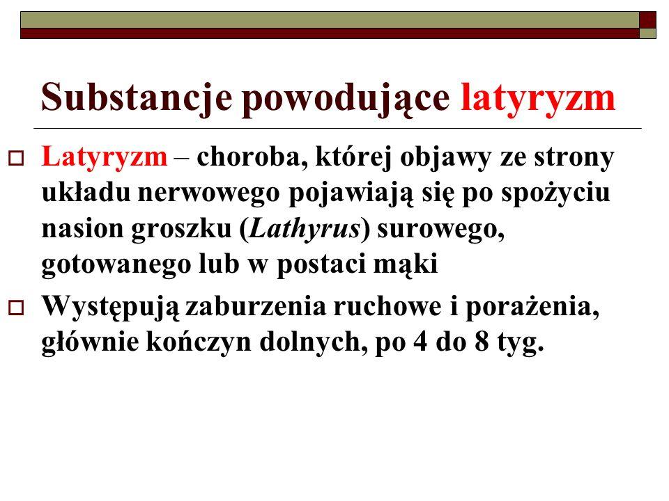 Substancje powodujące latyryzm