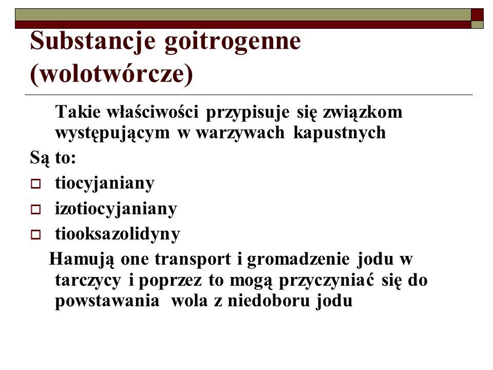 Substancje goitrogenne (wolotwórcze)