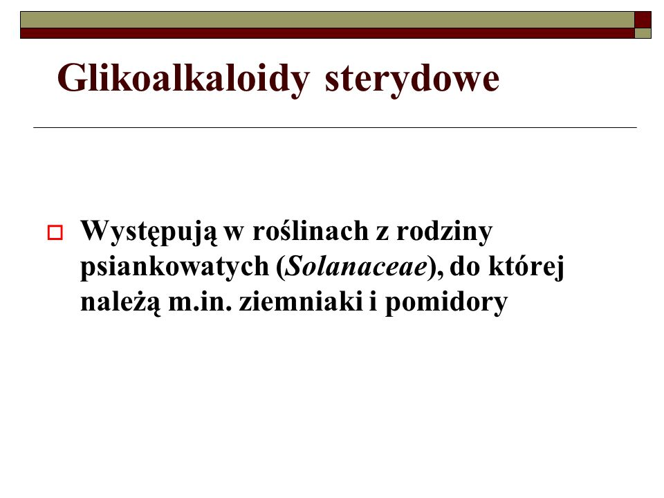 Glikoalkaloidy sterydowe