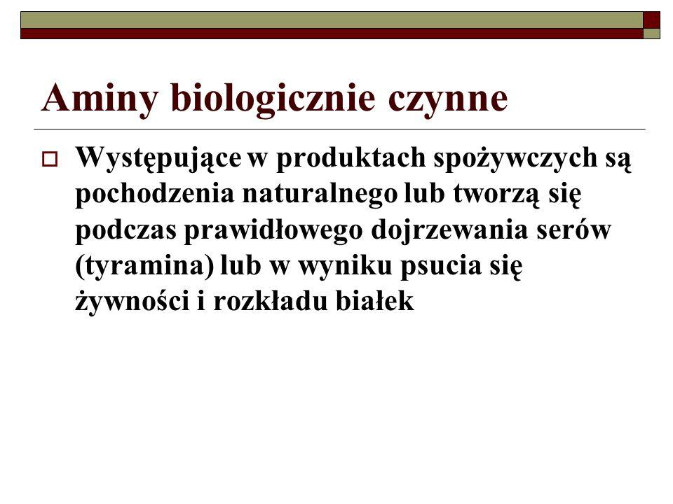 Aminy biologicznie czynne