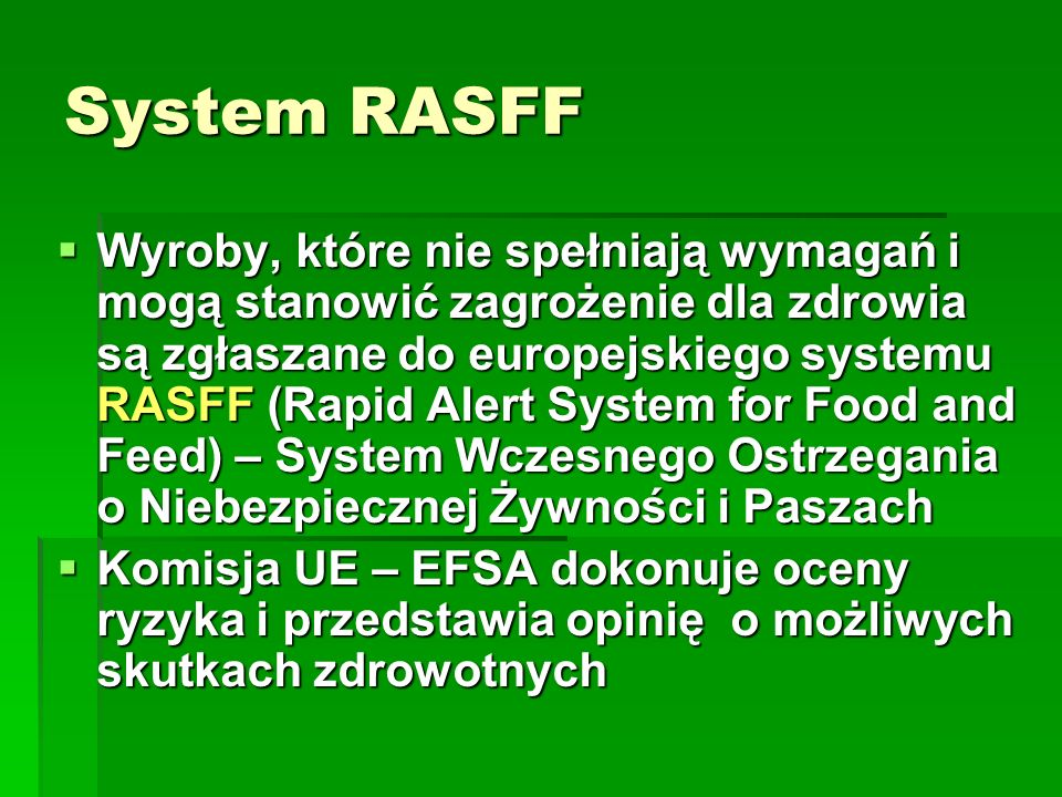 System RASFF