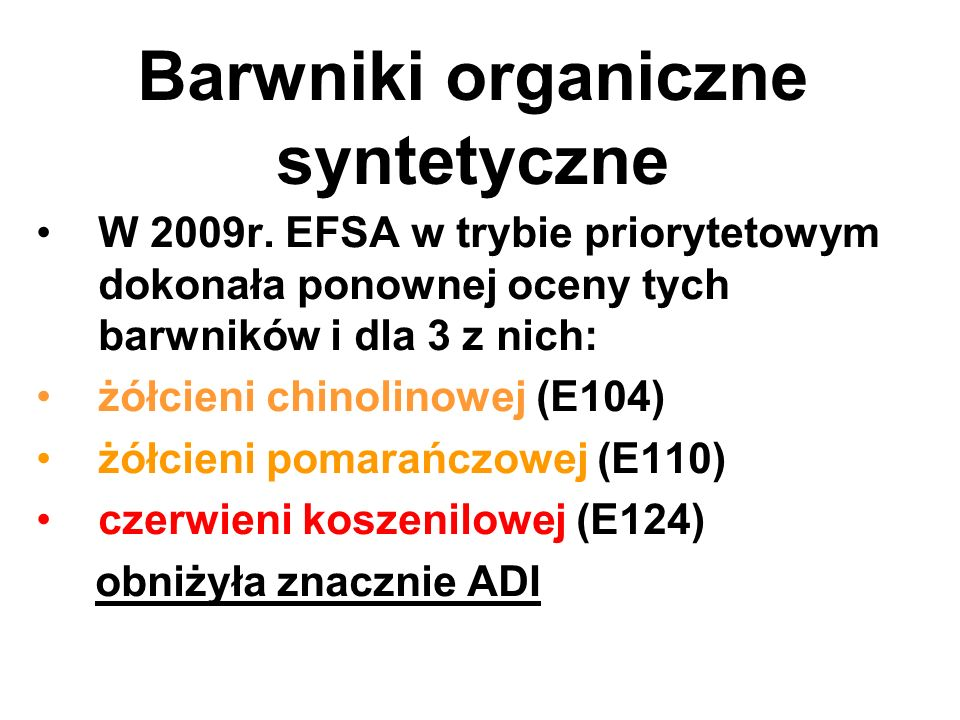 Barwniki organiczne syntetyczne