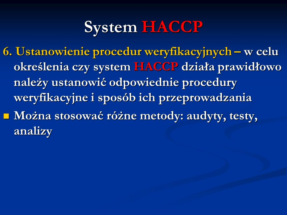 System HACCP