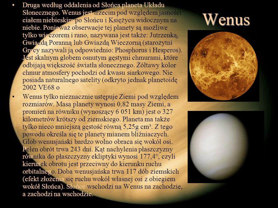 Druga według oddalenia od Słońca planeta Układu Słonecznego