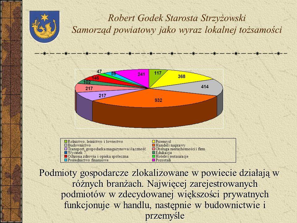 Robert Godek Starosta Strzyżowski Samorząd powiatowy jako wyraz lokalnej tożsamości