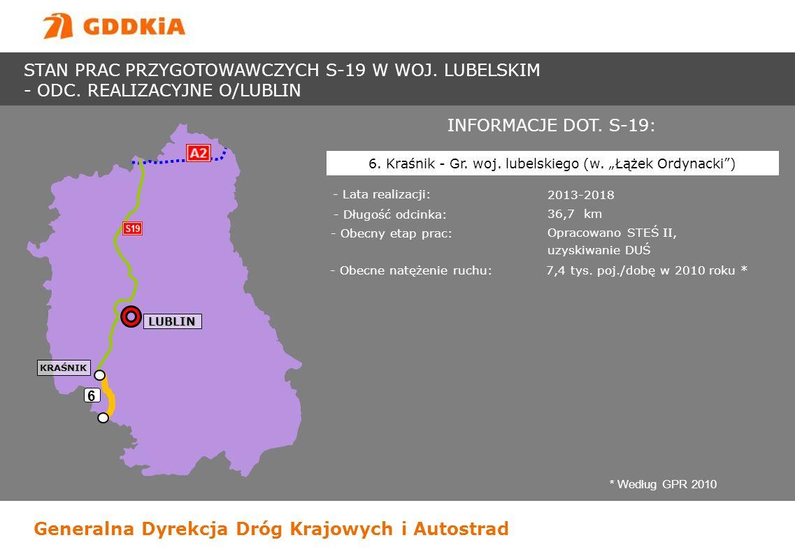 """6. Kraśnik - Gr. woj. lubelskiego (w. """"Łążek Ordynacki )"""