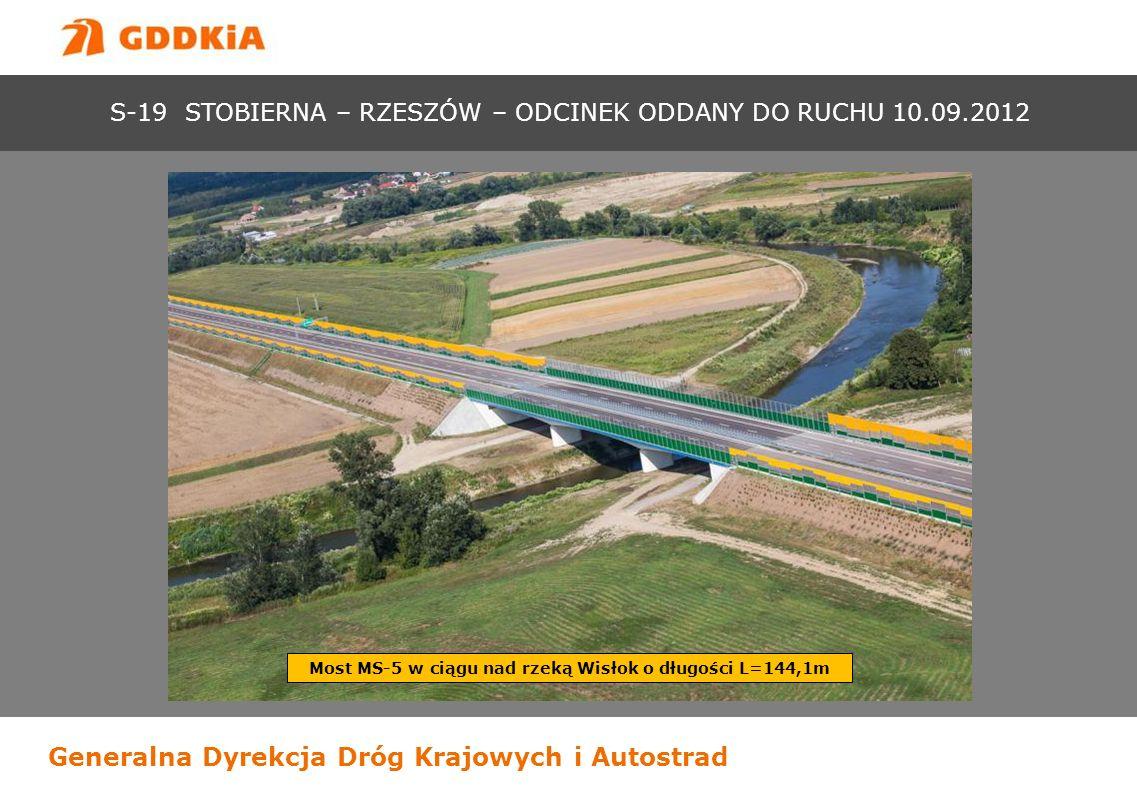 Most MS-5 w ciągu nad rzeką Wisłok o długości L=144,1m