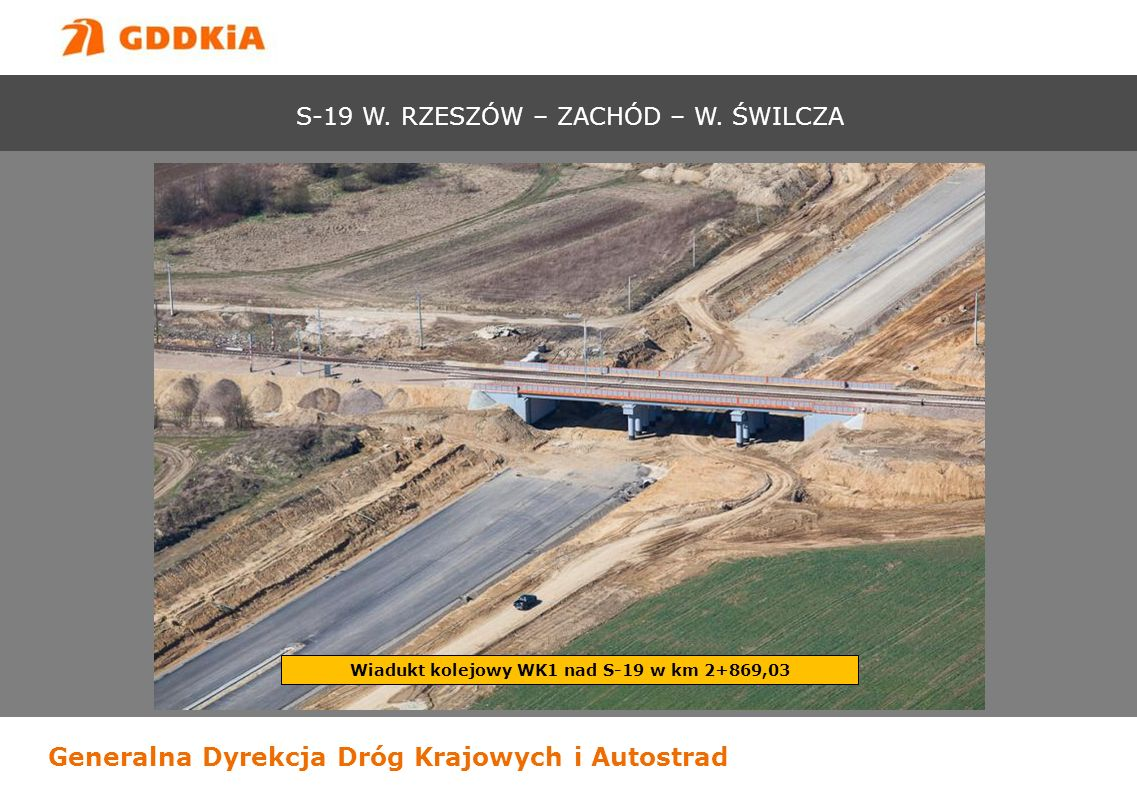 Wiadukt kolejowy WK1 nad S-19 w km 2+869,03