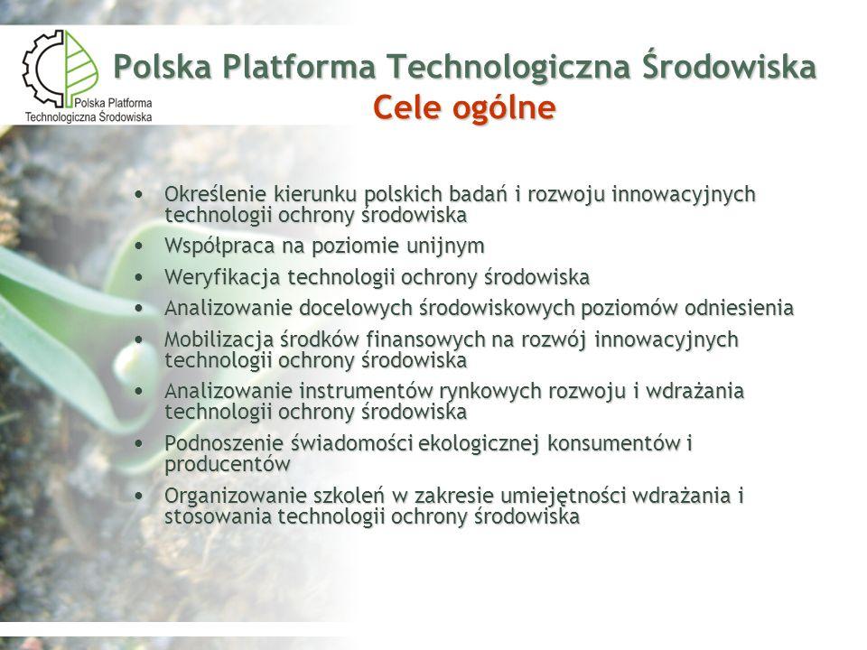 Polska Platforma Technologiczna Środowiska Cele ogólne