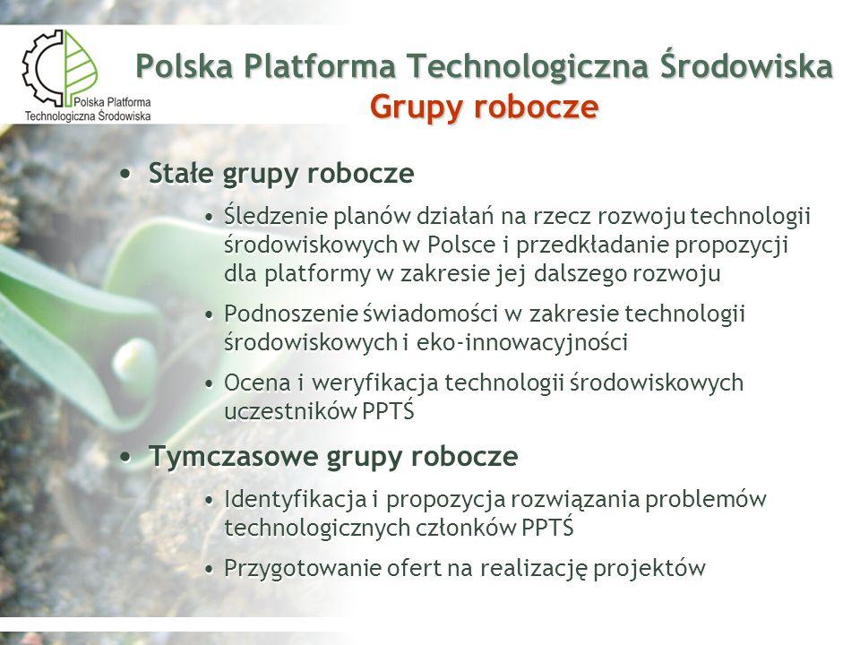 Polska Platforma Technologiczna Środowiska Grupy robocze