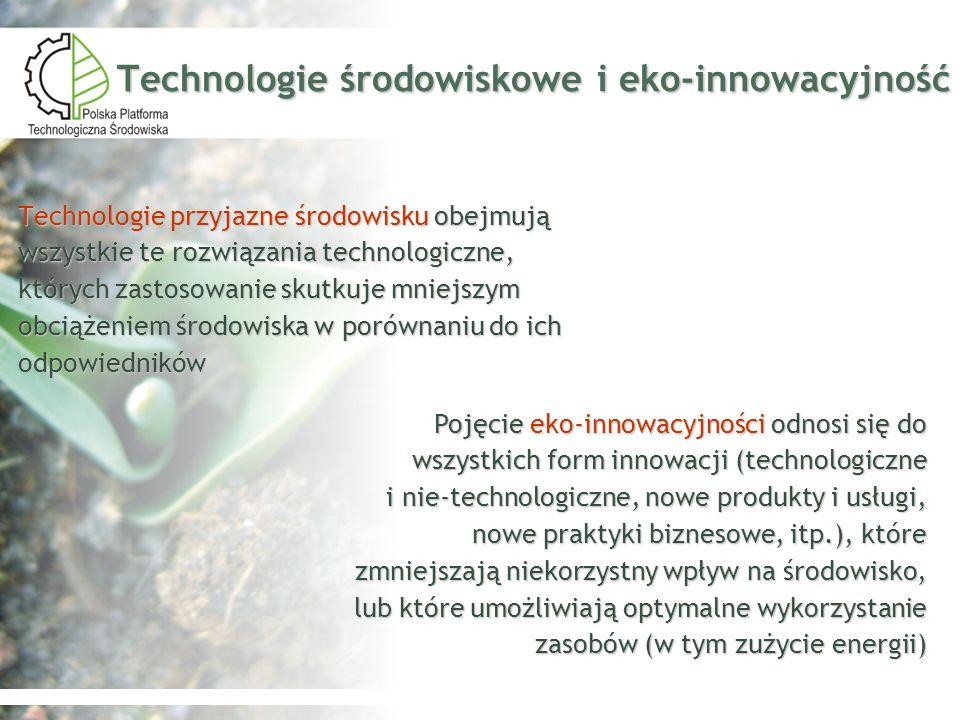 Technologie środowiskowe i eko‑innowacyjność