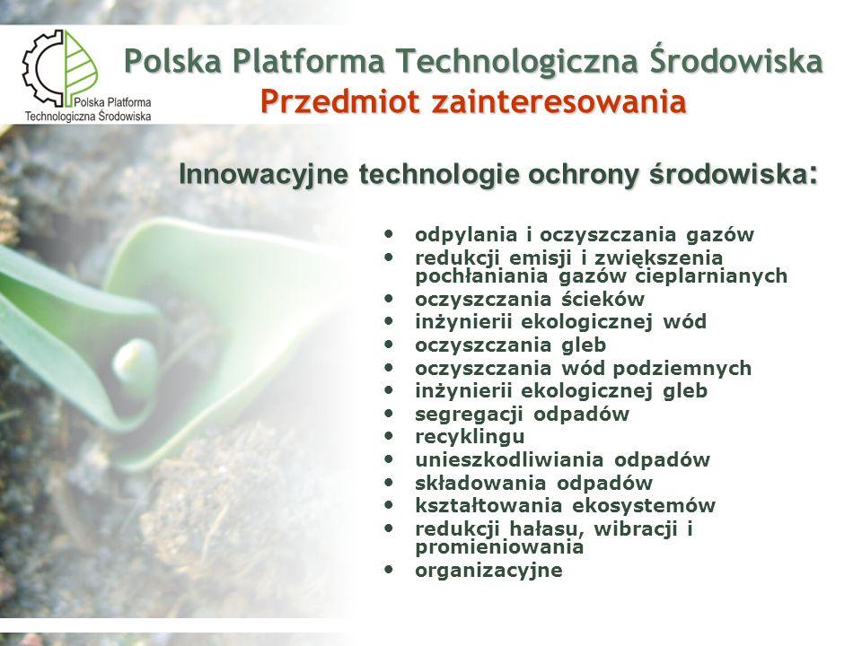 Polska Platforma Technologiczna Środowiska Przedmiot zainteresowania