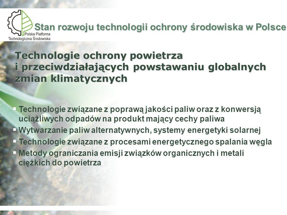 Stan rozwoju technologii ochrony środowiska w Polsce