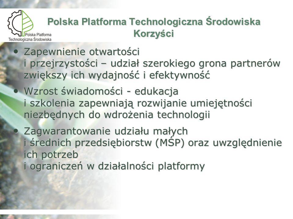 Polska Platforma Technologiczna Środowiska Korzyści