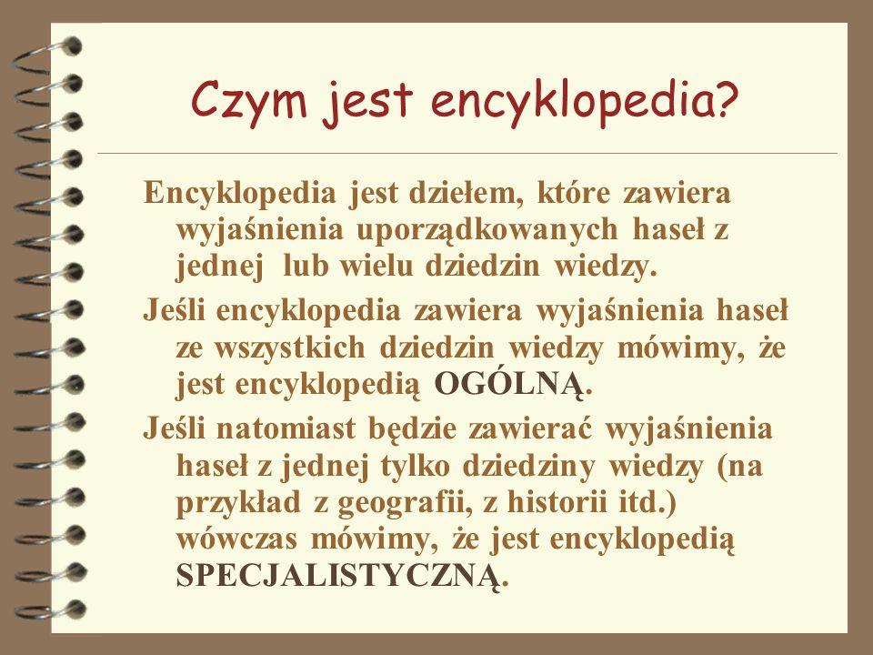 Czym jest encyklopedia