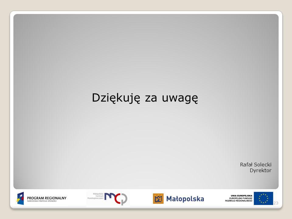 Dziękuję za uwagę Rafał Solecki Dyrektor