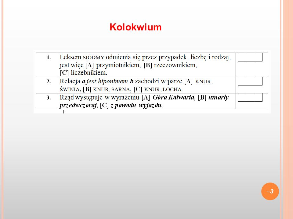 Kolokwium 3 3