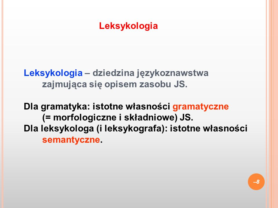 Leksykologia