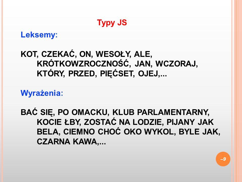 Typy JS