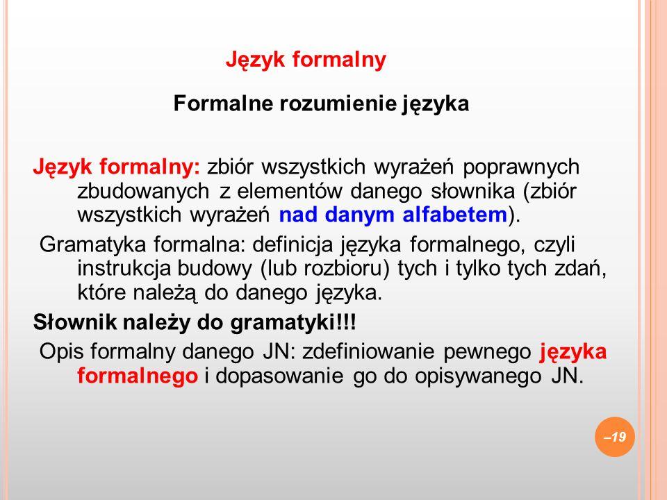 Formalne rozumienie języka