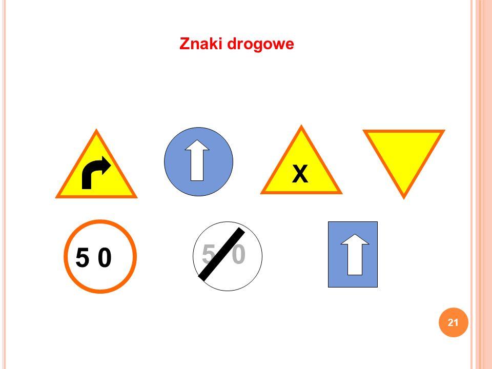 Znaki drogowe X 5 0 5 0