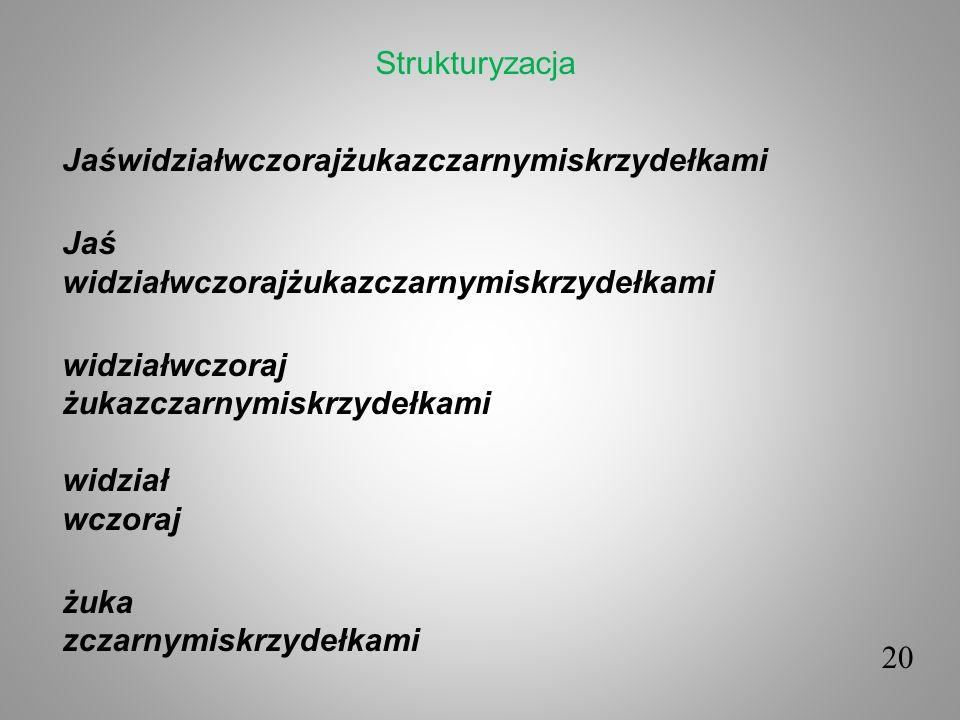 Strukturyzacja Jaświdziałwczorajżukazczarnymiskrzydełkami Jaś