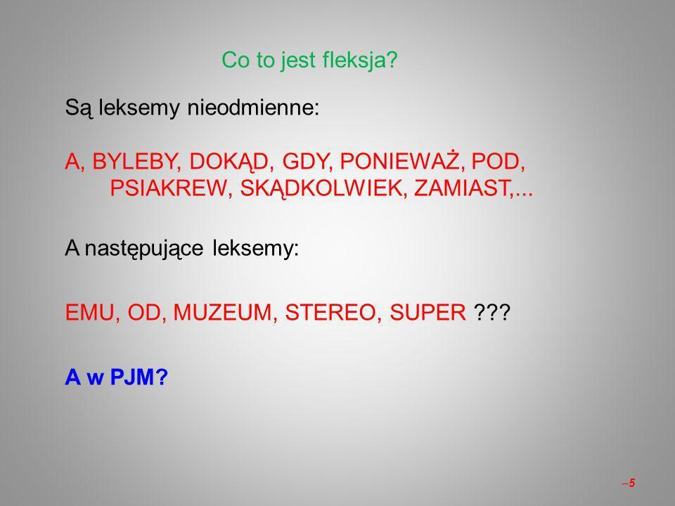 Co to jest fleksja