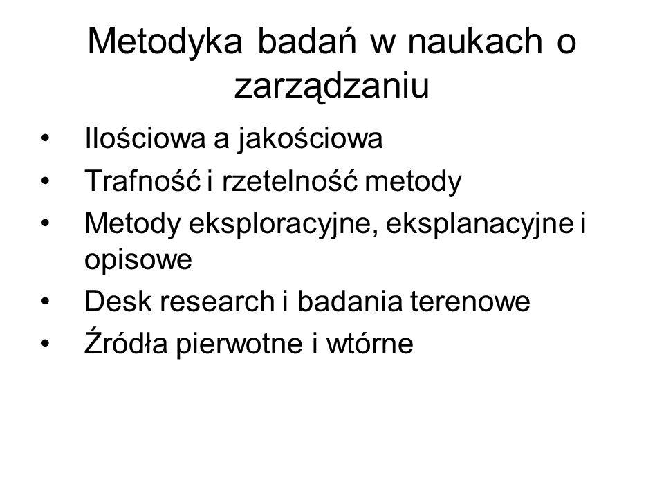 Metodyka badań w naukach o zarządzaniu