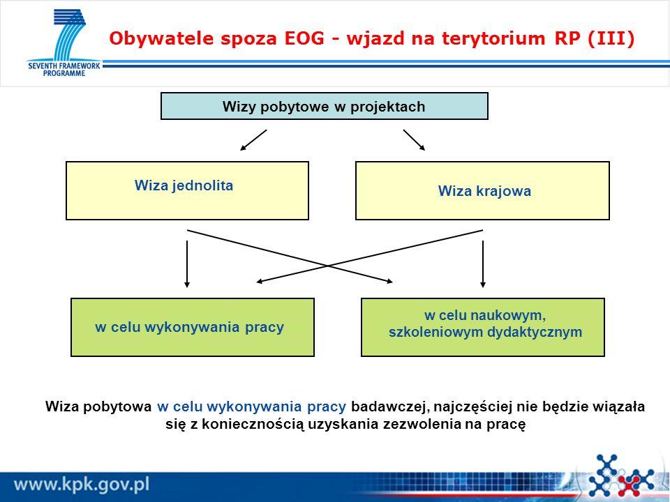 Obywatele spoza EOG - wjazd na terytorium RP (III)