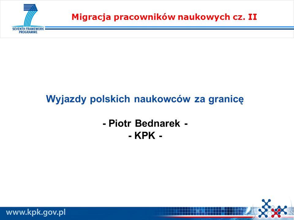 Migracja pracowników naukowych cz. II