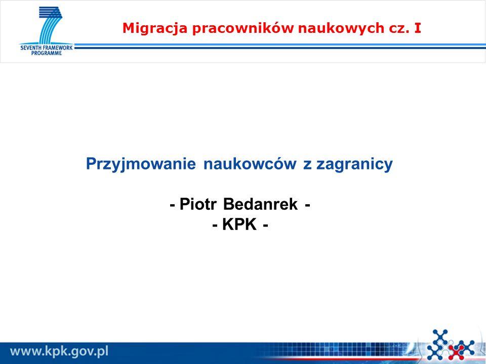 Migracja pracowników naukowych cz. I