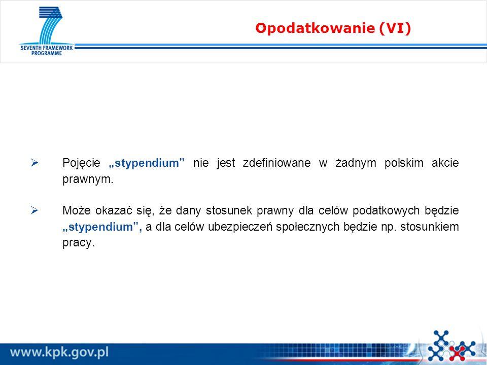 """Opodatkowanie (VI) Pojęcie """"stypendium nie jest zdefiniowane w żadnym polskim akcie prawnym."""