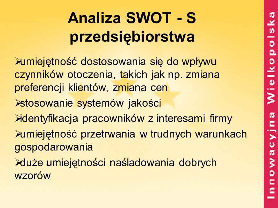 Analiza SWOT - S przedsiębiorstwa