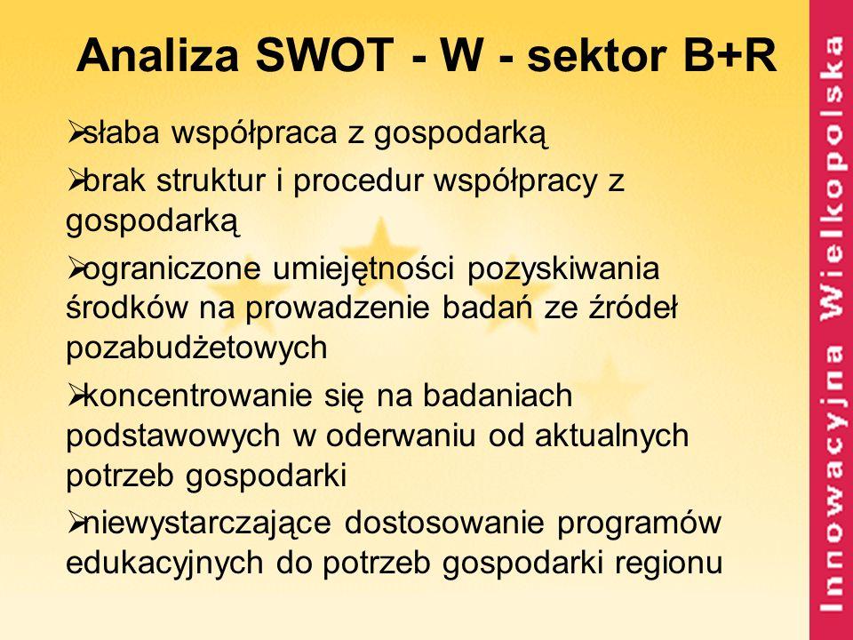 Analiza SWOT - W - sektor B+R