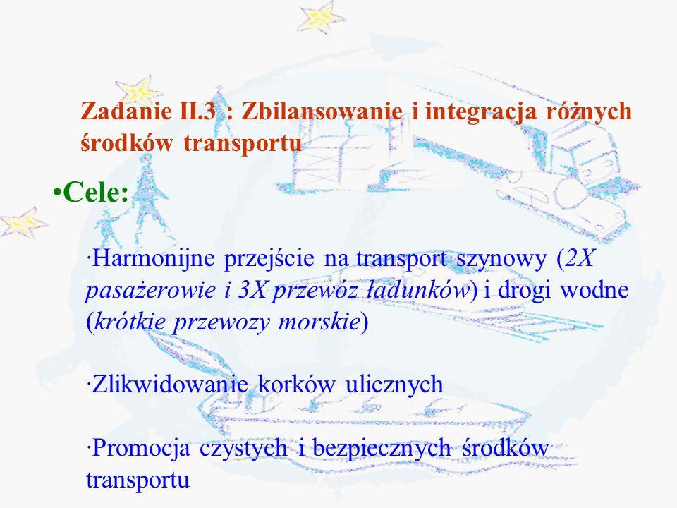 Zadanie II.3 : Zbilansowanie i integracja różnych środków transportu