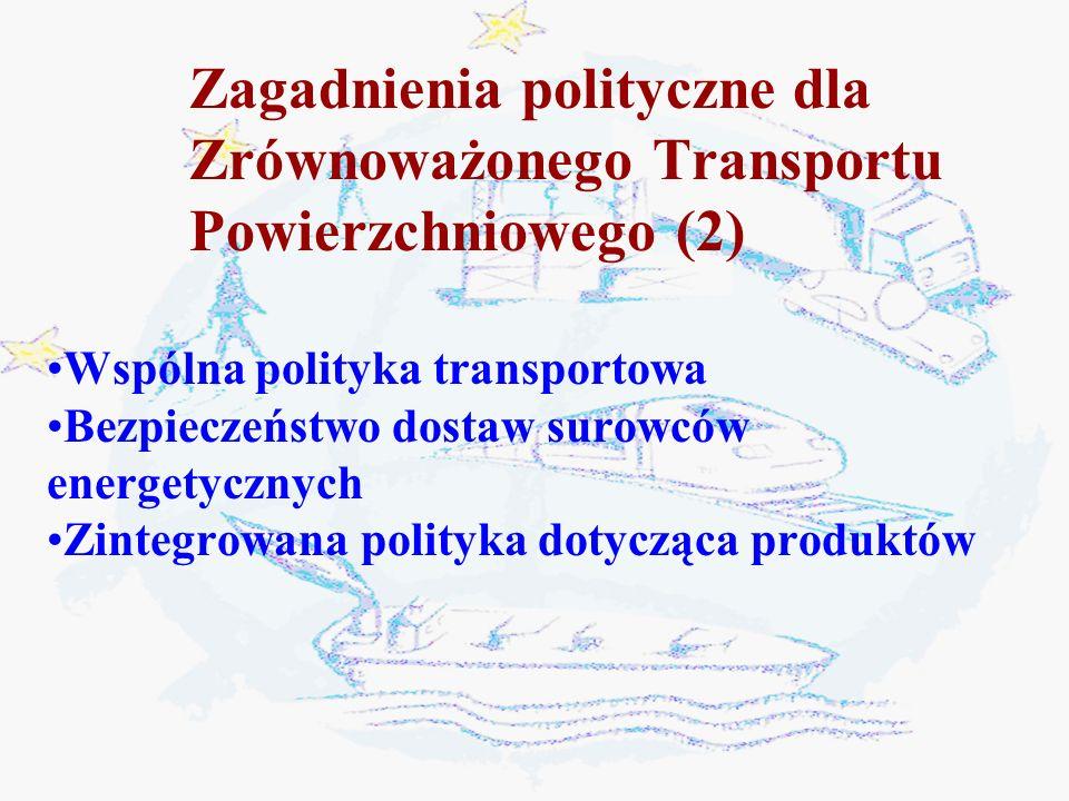 Zagadnienia polityczne dla Zrównoważonego Transportu Powierzchniowego (2)