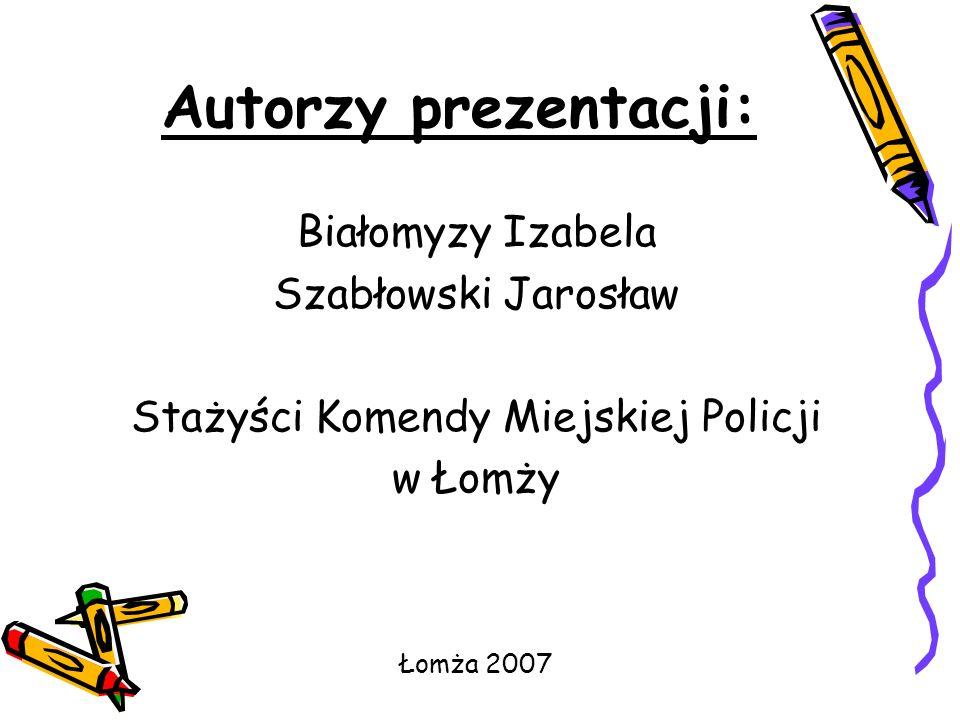 Stażyści Komendy Miejskiej Policji