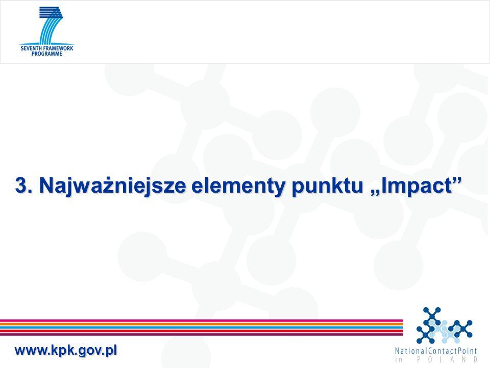 """3. Najważniejsze elementy punktu """"Impact"""