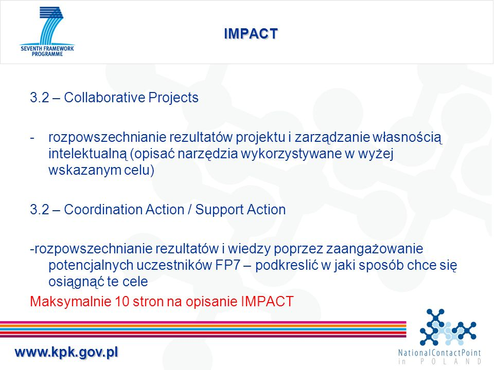 IMPACT 3.2 – Collaborative Projects.