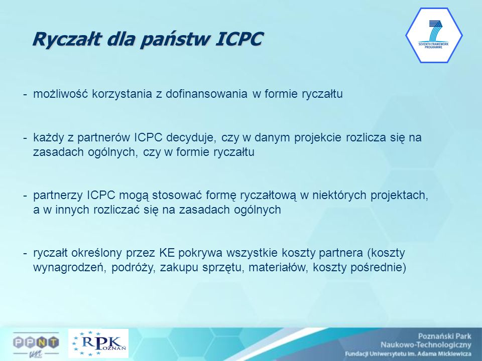 Ryczałt dla państw ICPC