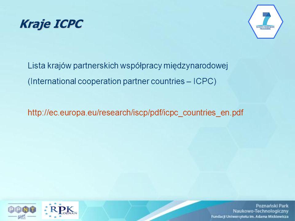 Kraje ICPC Lista krajów partnerskich współpracy międzynarodowej