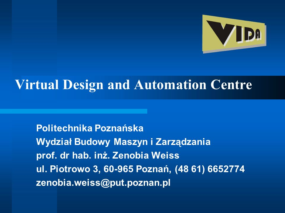 Virtual Design and Automation Centre