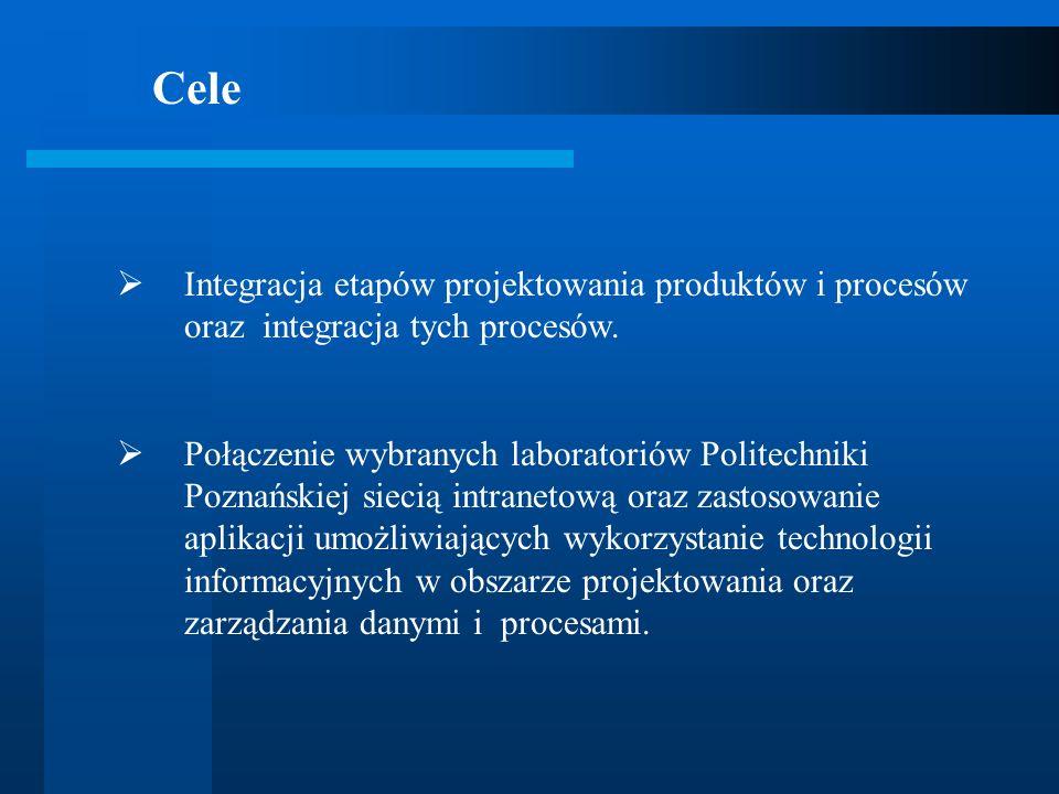 Cele Integracja etapów projektowania produktów i procesów oraz integracja tych procesów.
