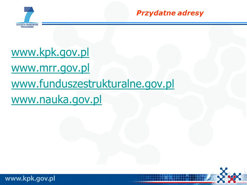 www.kpk.gov.pl www.mrr.gov.pl www.funduszestrukturalne.gov.pl