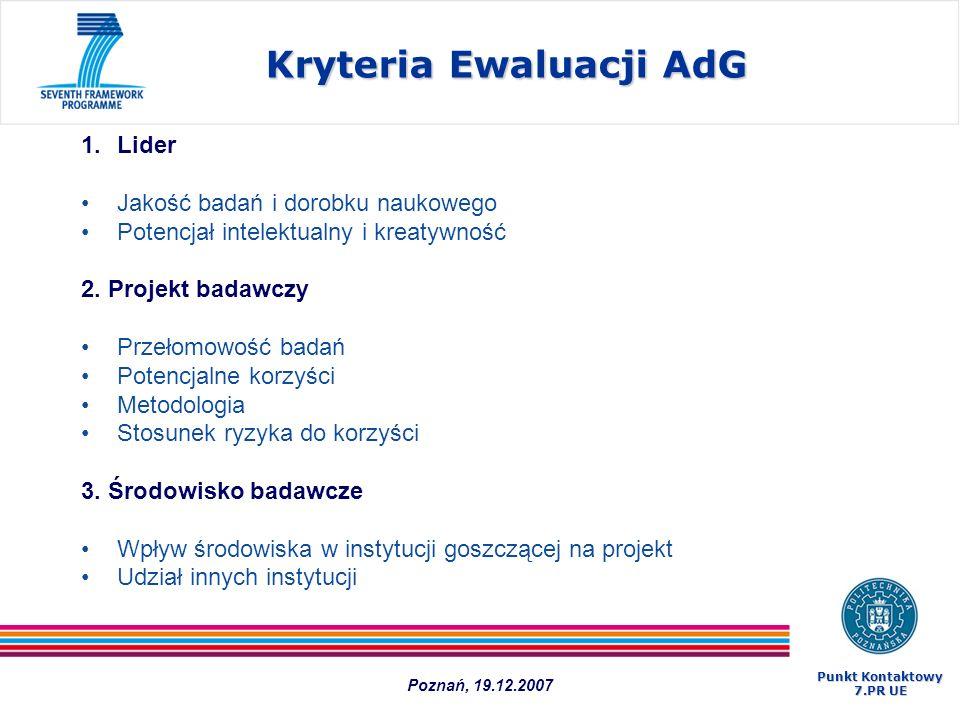 Kryteria Ewaluacji AdG