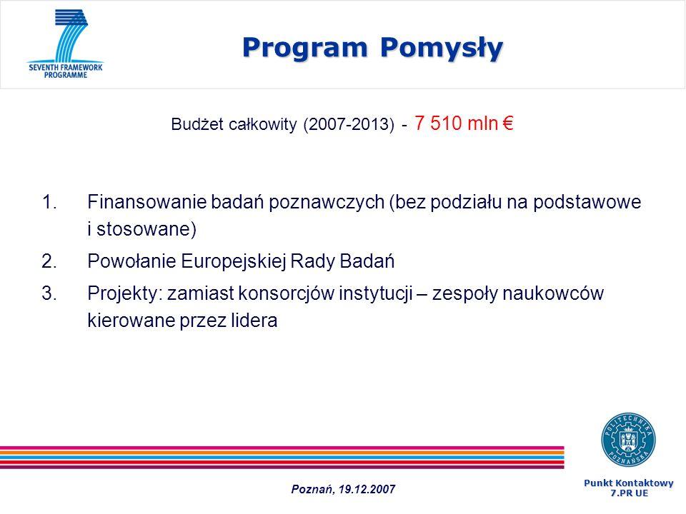 Budżet całkowity (2007-2013) - 7 510 mln €