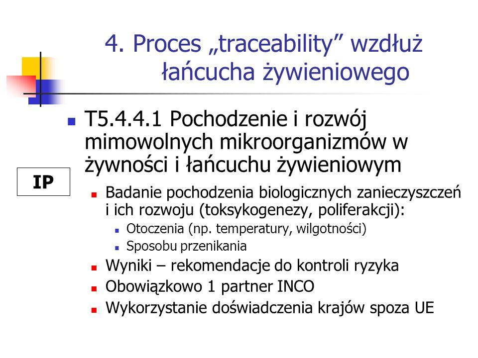 """4. Proces """"traceability wzdłuż łańcucha żywieniowego"""